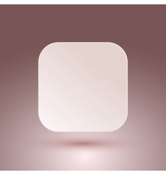 Blank square button vector image