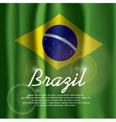 Brazil Flag Curtain vector image vector image