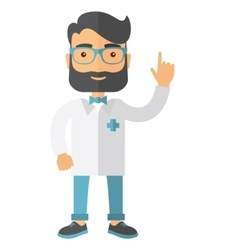 Doctor dressed in a white lab coat vector