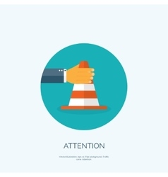 Flat attention cone vector