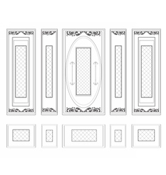 Frames with wainscoting ornament vector