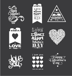 Happy Valentine Day lettering vector image