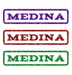 Medina watermark stamp vector