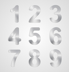 Metal Number Set vector image