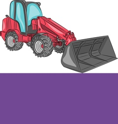 mini bulldozer a vector image