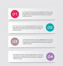 Modern infographics white design template with vector image