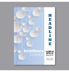 Modern template for brochure vector