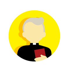 Old religious pastor people graphic vector