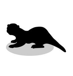 Otter mammal black silhouette animal vector