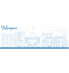 outline belmopan skyline with blue buildings vector image vector image