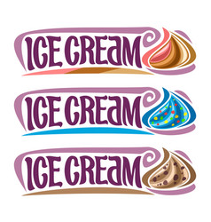 set labels for ice cream vector image vector image