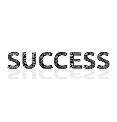 Success made of failures vector