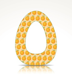 The letter O of the alphabet made of Orange vector image
