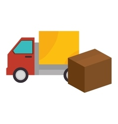 Truck box carton shipping cargo design vector