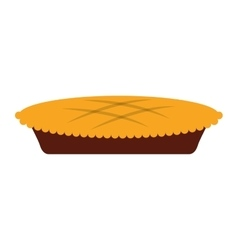 Pie delicious tanksgiving isolated icon vector