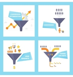 Conversion optimization lead magnets and funnel vector image