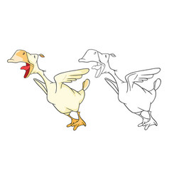 Domestic geese cartoon character vector