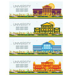 Set of university study banners vector