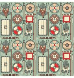 seamless viking pattern 02 vector image