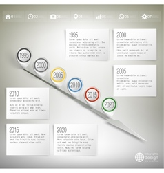 Timeline with pointer marks infographic for vector
