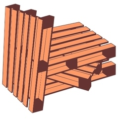 Wooden pallets vector