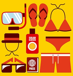 Clothes swiming design vector