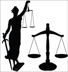 Justice statue and libra vector
