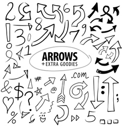 Arrows and numbers vector
