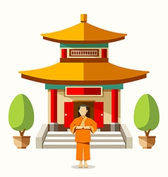 Building of china with china monks vector