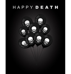 Happy death sad accessories for holiday black vector