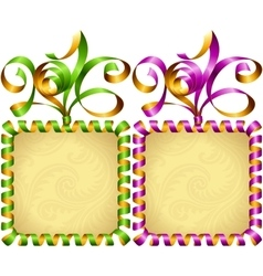 New year 2016 square frame set vector