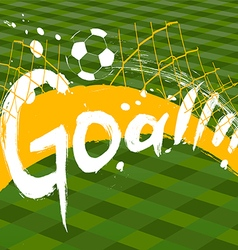 Soccer design over green background vector