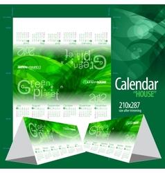 2012 calendar calendar house vector image