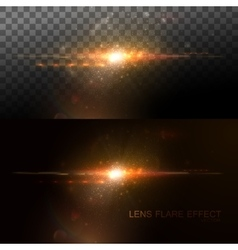 Digital lens flare effect vector