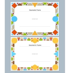 Abstract modern geometric frames vector