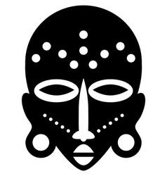 African masks tribal design vector