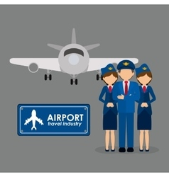 airport industry design vector image