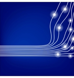 blue optical fibres vector image vector image