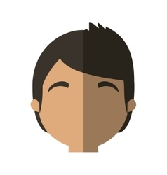 Character face man online web profile shadow vector