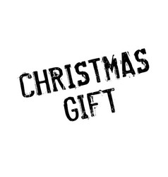 Christmas gift rubber stamp vector