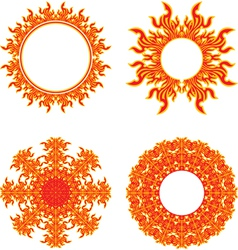 circle of fire vector image vector image