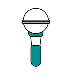 Color silhouette image of wireless hand microphone vector