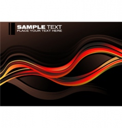 concept waves graphic card vector image vector image