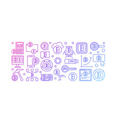 Crypto currency colorful banner vector