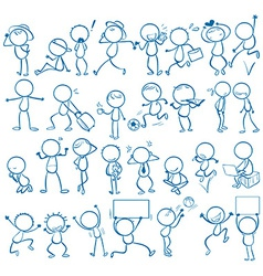 Doodles people vector image