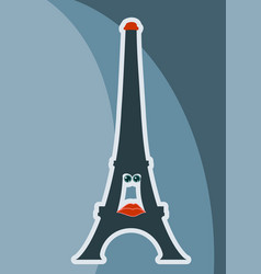 french eiffel tower character vector image vector image
