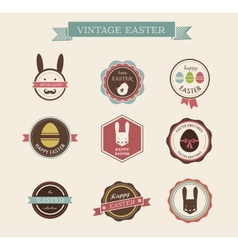 Happy Hipster Easter - set of icons and elements vector image vector image