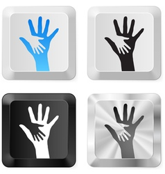 Help buttons vector image