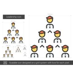 Leadership line icon vector