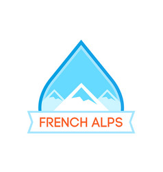 Logotype with french alps vector